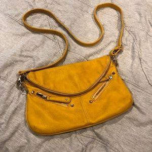 Boho yellow crossbody bag